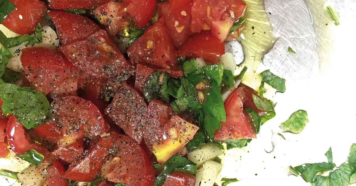 aglio olio pomodorino e prezzemolo