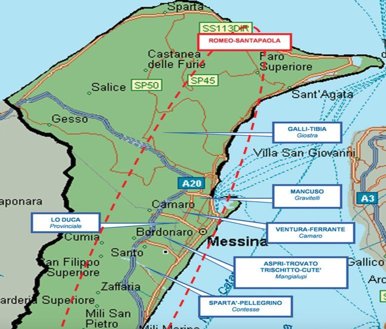 Mafia la mappa dei clan di messina e provincia for Volantino despar messina e provincia