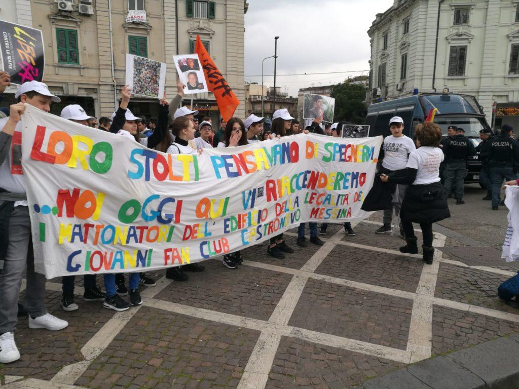 """Inizia la manifestazione contro le mafie a Piazza del Popolo organizzata da """"Libera"""""""