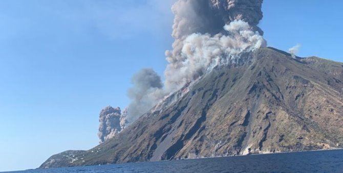 Situazione Stromboli dopo l'eruzione