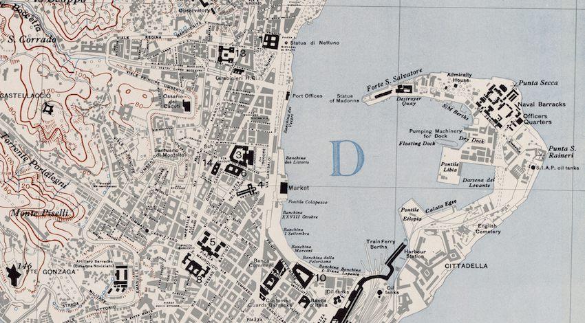 Cartina D Italia 1940.Messina La Mappa Militare Usa Della Ii Guerra Mondiale Che Guido I Bombardamenti Sulla Citta