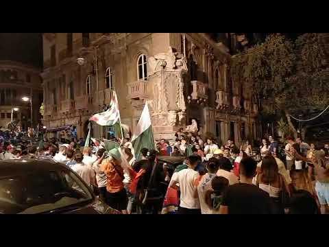 Italia campione d'Europa, Messina si tinge d'azzurro